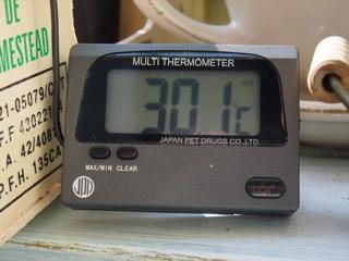 晴れた日には30度になっちゃいます。