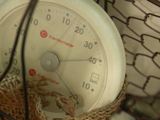 ベランダは日陰でもこの温度。