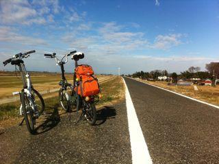 里帰りの道中、江戸川サイクリングロード